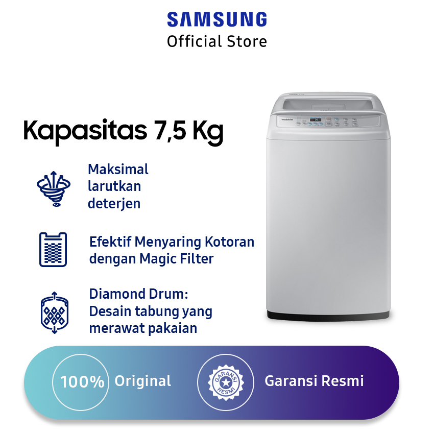 Samsung Top Loading Washer Wa75h4200sg